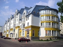 Multi-apartment residential building with public area and garage with 12 automobile places in Dimitrova Street, Minsk