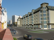 Multi-apartment residential building with area for public services in Zamkavaya Street, Minsk